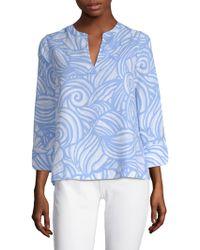 Vineyard Vines - Nautulis Shell Print Linen Tunic - Lyst
