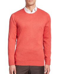 Saks Fifth Avenue - Silk-blend Crewneck Sweater - Lyst