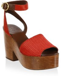 Tory Burch - Camilla Leather Sandals - Lyst