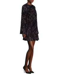 Laundry by Shelli Segal - Printed Plaid Shift Dress - Lyst