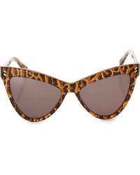 e76c6e6b6a9dc Stella McCartney - Women s 55mm Leopard Print Cat s-eye Sunglasses - Black  Brown - Lyst