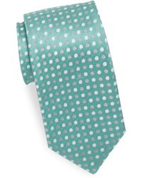 Isaia - Three-tone Polka Dot Silk Tie - Lyst