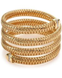 Roberto Coin - Primavera Diamond & 18k Yellow Gold Four-row Wrap Bracelet - Lyst
