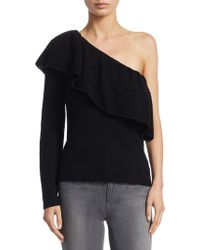 Ella Moss - One-shoulder Knitted Jumper - Lyst