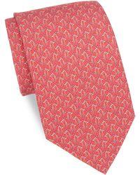 Ferragamo - Paperclip Penguin Silk Tie - Lyst