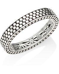 John Hardy - Dot Sterling Silver Cuff Bracelet - Lyst