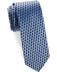 Charvet - Anchor Silk Narrow Tie - Lyst