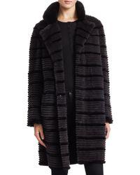 Saks Fifth Avenue - Dyed Rabbit Fur Long Jacket - Lyst