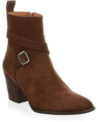 HUNTER - Refined Suede Ankle Boots - Lyst