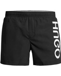 7c0f673f3 BOSS Orange Classic Swim Shorts in Black for Men - Lyst
