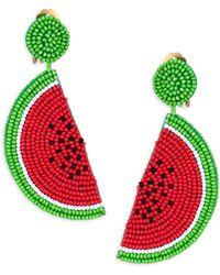 Kenneth Jay Lane - Watermelon Clip-on Earrings - Lyst