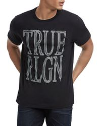 True Religion - Chain Logo Cotton Tee - Lyst