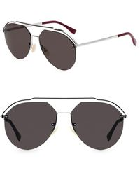d245730db22c2 Lyst - Fendi Men s 61mm Metal Aviator Sunglasses - Gold in Metallic ...
