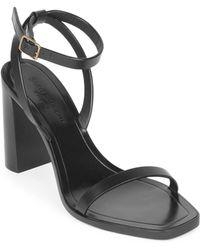 Saint Laurent - Loulou Ankle-strap Leather Sandals - Lyst