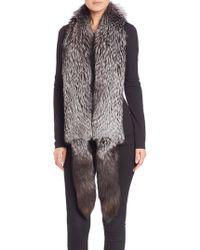 Saks Fifth Avenue - Fox Fur Boa Scarf - Lyst