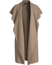 RAFFI - Women's Felt Wool Shawl Collar Open Vest - Acorn - Lyst