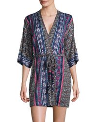 In Bloom - Patterned Robe - Lyst