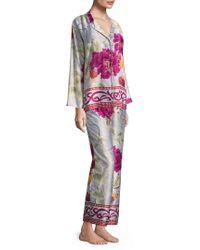 Natori - Floral Buttoned Pyjamas - Lyst