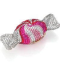 Judith Leiber - Swarovski Crystal Swirl Candy Pill Box - Lyst