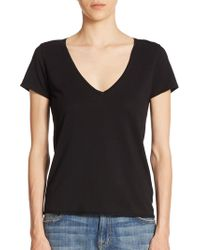 Feel The Piece - Noemie Cotton V-neck Tee - Lyst