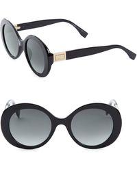 Fendi - 52mm Round Sunglasses - Lyst
