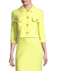 St. John - Hannah Wool Knit Jacket - Lyst