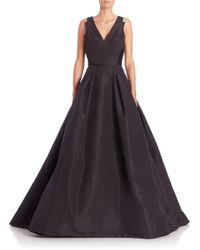 Carolina Herrera | Icon Collection Flared Silk Gown | Lyst