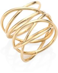Lana Jewelry Diamond Twist Ring in 14K Yellow Gold KAdyg