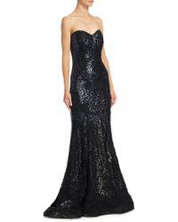 Rene Ruiz - Strapless Mermaid Gown - Lyst
