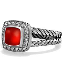 David Yurman | Petite Albion Ring With Carnelian And Diamonds | Lyst