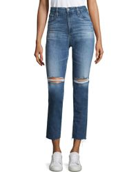 AG Jeans - The Isabelle Destroyed Jeans - Lyst