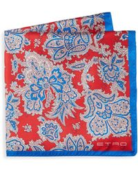 Etro - Floral Silk Pocket Square - Lyst