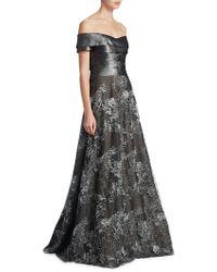 Rene Ruiz - Off-the-shoulder Floor-length Gown - Lyst