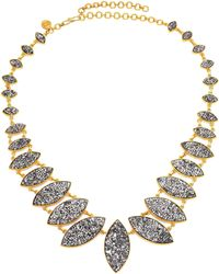 Shana Gulati - Jodhpur Sliced Raw Diamond & 18k Yellow Gold Vermeil Necklace - Lyst