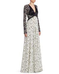 Roberto Cavalli - Leopard Print Panelled Gown - Lyst