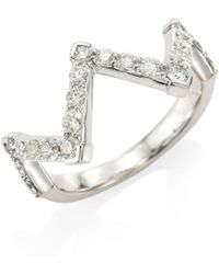 Hearts On Fire - Women's Triplicity Diamond & 18k White Gold Pointed Ring - White Gold - Size 6.5 - Lyst