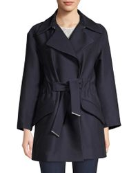 Sandro - Marius Ruched Tie-waist Trench Coat - Lyst