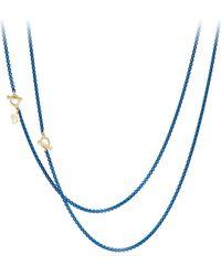 David Yurman - Bel Aire 14k Gold & Enamel Chain Necklace - Lyst