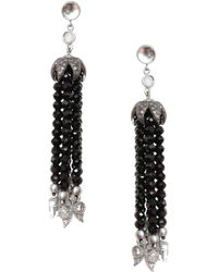 Coomi - Women's Vitality Diamond, Labradorite, Crystal & Sterling Silver Tassel Earrings - Labradorite - Lyst