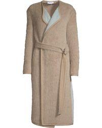 Yigal Azrouël - Women's Reversible Belted Alpaca Coat - Camel Multi - Size 2 - Lyst