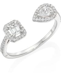 Messika - My Twin Toi & Moi Small Diamond & 18k White Gold Ring - Lyst