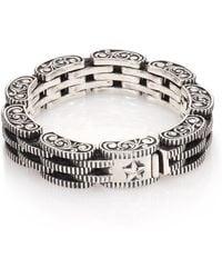 King Baby Studio - Sterling Silver Rotor Link Bracelet - Lyst