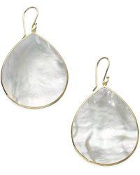 Ippolita - Women's Polished Rock Candy Mother-of-pearl & 18k Yellow Gold Large Teardrop Earrings - Cheetah - Lyst