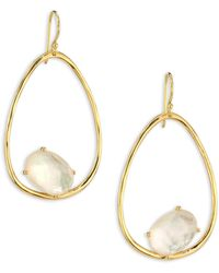Ippolita | Rock Candy? Mother-of-pearl Doublet & 18k Yellow Gold Oval Earrings | Lyst