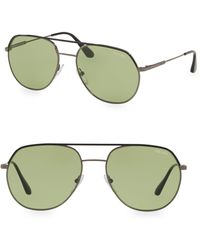 c30637af90c Prada Linea Rossa Men s Round Double-bridge Sunglasses in Gray for ...