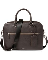 Polo Ralph Lauren - Pebbled Jacquard Briefcase - Lyst