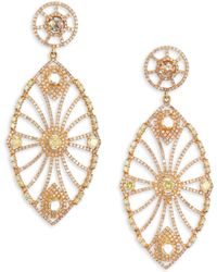 Bavna - 18k Gold & Diamond Oversize Drop Earrings - Lyst