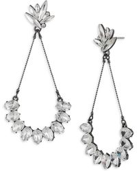 ABS By Allen Schwartz - Black Magic Crystal Navette & Teardrop Earrings - Lyst