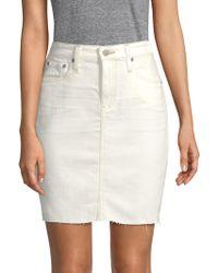 AG Jeans - Erin Distressed Denim Skirt - Lyst