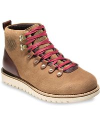 Cole Haan - Levett Leather Hiker Boots - Lyst